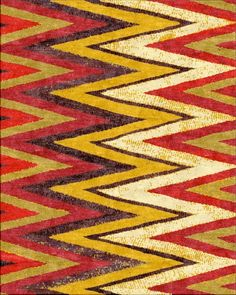 Robin Gray - Bistai - Chevron Rug:  Color me ALL SORTS OF HAPPY!