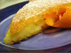 Ingredientes: - 3 ovos - 200gr de açúcar - 50gr de margarina - 130gr de farinha - 1/2 litro de leite - raspa e sumo de 2 laranjas ...
