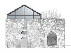 Architecture Design, Architecture Collage, Minimalist Architecture, Architecture Drawings, Conservation Architecture, Adaptive Reuse, Planer, Interior And Exterior, Restoration