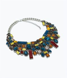 Image 1 of NECKLACE WITH GEOMETRIC RHINESTONES from Zara
