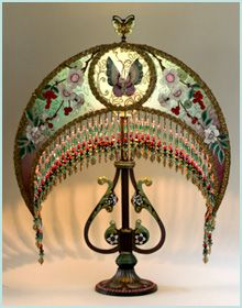 """Chinese Victorian Moon Lampshade. Gorgeous. """"Please click photo to save the blogger. I'm doing some major cleaning to my boards. With over 400 boards and been on here since the beginning of Pinterest. I've accumulated a lot of stuff and some are bad links. So please don't follow or like, just go to source till I'm finished. Thank you."""" Quote by Blonde in Pic."""