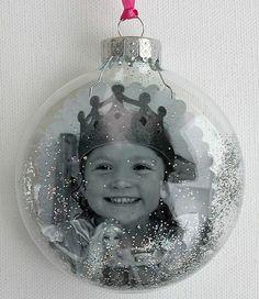 Homemade photo christmas ornament