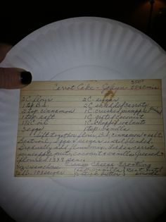 Carrot cake recipe  from Alice's Kitchen....