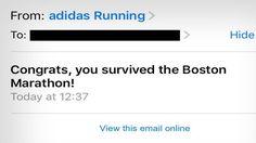 Adidas: Congrats On Surviving Boston Marathon!