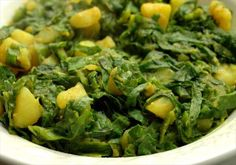 Saag Aloo (Spinach and Potatoes)