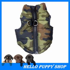 2015 New Winter Warm Pet Dog Clothes Small Waterproof Dog Coat Jacket Winter Quilted Padded Puffer Pet Clothes #Affiliate