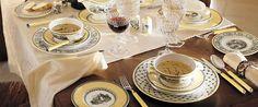 My favorite brand of china in my favorite pattern:  Villeroy & Boch, Audun (various)
