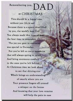 Remembering Dad at Christmas 🎄 & all throughout the year My Dad Quotes, Dad Poems, Missing Dad Quotes, Daughter Quotes, Mother Quotes, Bible Quotes, Missing Dad In Heaven, Missing Loved Ones, Daddy I Miss You