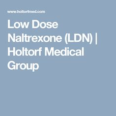 low dose naltrexone faq