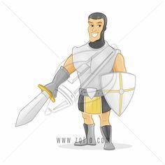 medieval knight cartoon character