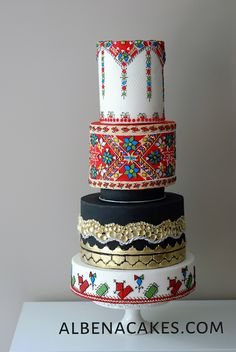 Bulgarian Embroidery by Sweet Temptations - Custom Cakes by Albena www.facebook.com/albena.cakes