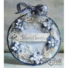 Gallery | Blue Poinsettia Christmas Ornament - Heartfelt Creations