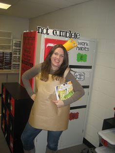 Paper Bag Princess for favorite book character dress up day.