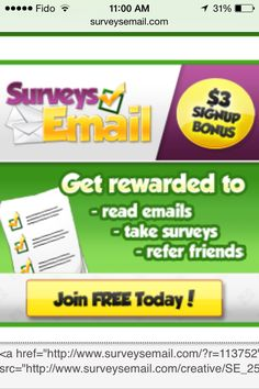 Get paid to read emails, they send a few a day, click the link and get paid. It is small earning but effortless and they add up quick, you can boost your earning by completing offers or surveys.  Use my referral code:  http://www.surveysemail.com/?r=113752