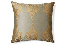 Pasha Khari 20x20 Pillow, Gray on OneKingsLane.com