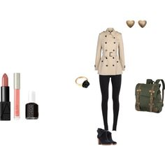 Detective Outfit by marydecker on Polyvore featuring Burberry, NIKE, UGG Australia, United by Blue, LeiVanKash, Ilia and Essie