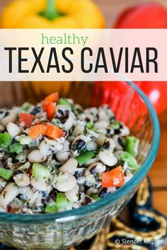 This healthy Texas Caviar is the perfect Southern side dish or dip for your next…
