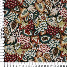 Bargello Jewel Cotton Duck Fabric