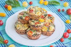 Basil, Sausage and Egg Muffins (Mini Frittatas)  #ThePrimalist