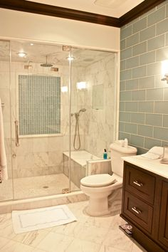 Love this shower stall and wall tile