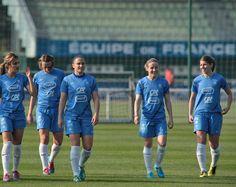 FFF Women's  L-R  Louisa Necib, Sandrine Soubeyrand, Ophelie Meilleroux, Sonia Bompastor, Camille Catala