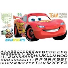 Cars Lightening McQueen Wall Stickers | Jomoval