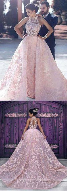 Luxury Wedding Dresses Halter Embroidery Organza High Neck Open Back Prom Dresses uk,#promdressuk,#weddingdressuk,#quinceaneradress,#eveningdress,#pink,#lace,# Organza