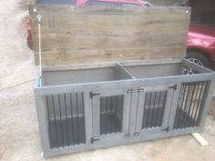 L-XL Dog Kennel Double-Den 1 Easy Cleaning by AgainstTheGrainSlab