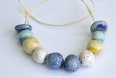 Mediterranean Handmade Ceramic Beads in Various by KaysCreaCorner, €5.70