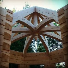 Distinctly unique, a timber turret is always a possibility for planning your own home!
