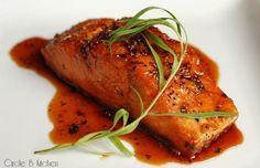 Caramelized Salmon with fennel pollen #FennelFriday #hgeats