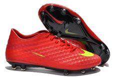 purchase cheap 1435c 63b79 Chaussures de foot nike Hypervenom Phantom FG Rouge Jaune pas cher Cheap  Soccer Shoes, Nike
