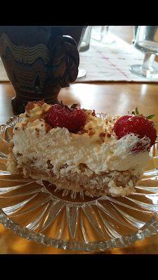 en kaka till: Tårta med rice krispies
