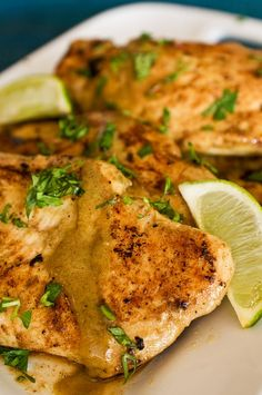 Lime and coconut chicken! Replace sugar with stevia for low carb