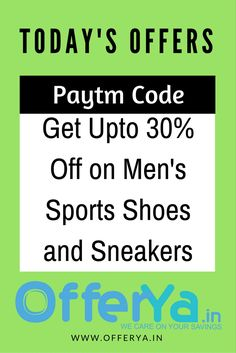 Paytm Code : Get Upto 30% Off on Men's Sports Shoes and Sneakers