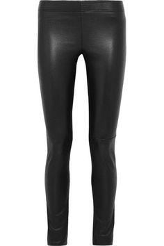 Joseph - Leather-paneled Stretch-jersey Leggings - Black - FR40