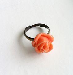 Orange Rose Ring