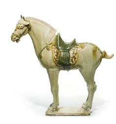 pottery horse | sancai-glazed pottery horse, Tang dynasty . Photo Sotheby's