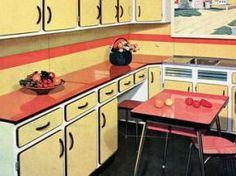 Cuisine formica jaune