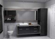 Our portfolio shows you dozens of kitchen and bathroom models. Enough to give you inspiration to create your own space! Bathroom Toilets, Bathroom Renos, Bathroom Furniture, Bathroom Tile Designs, Bathroom Interior Design, Modern Bathroom, Beautiful Small Bathrooms, Kitchen Pantry Storage, Bathroom Accessories Luxury