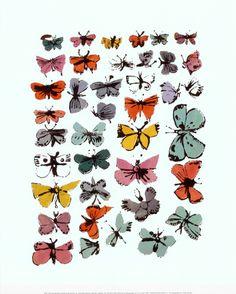 Butterflies, 1955 Print; Andy Warhol