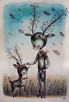 Magical creatures Original by PaoloPetrangeliArt on Etsy, €100.00