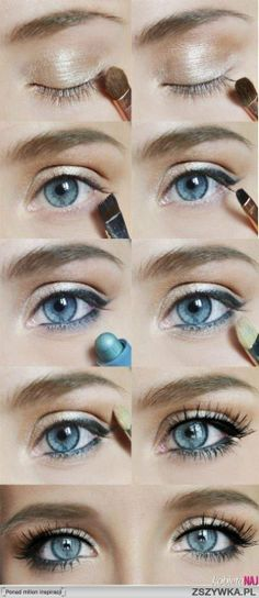 Adding eyeliner in a shade very close to your eye color on the bottom can really highlight your eyes! Can't wait to try!