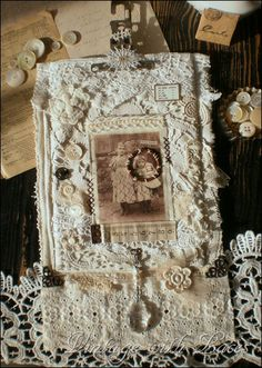 follow the link, there are a lot of neat lace , oddities and vintage items for inspiration