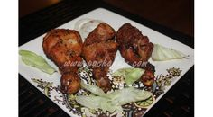 Chicken legs fry with Mint(Pudhina) and Coriander leaves