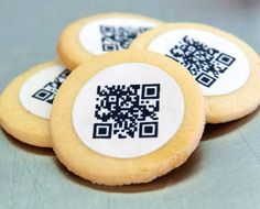 A German start-up company markets a baking mixture called QKies. Besides the cookie dough, the package also includes edible printed QR codes as a topping. The baked cookies can be used as invitations, give-aways or promotional incentives.