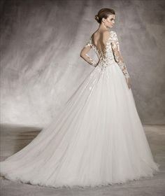 6c61cee661 Pronovias Arlene Back Available at Bowties Bridal  (702) 456-5688 Wedding  Beauty