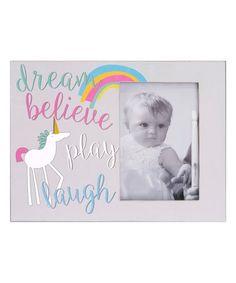 Another great find on #zulily! Gray 'Dream Believe' Photo Frame #zulilyfinds