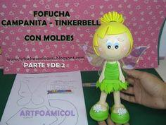 54649b5d914 FOFUCHA TINKERBELL O CAMPANITA DE DISNEY EN FOAMY CON MOLDES PARTE1DE2