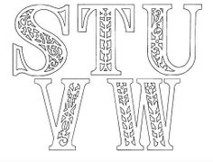 Letters S-W